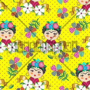 Tecido Frida Amarelo