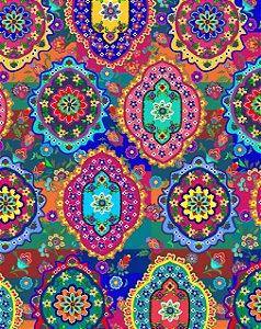 Tecido Indian digital 100% algodão