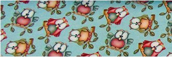Tecido coruja Fundo Tiffany Digital 100% algodão