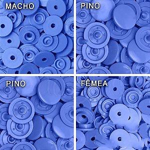 Botão Ritas Tamanho 12mm, Pacote com 50 unidades Azul Céu 07