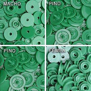 Botão Ritas, Tamanho 12mm, Pacote com 50 unidades, Cor Verde Bandeira