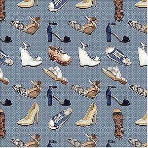 Tecido Sapatos digital 100% algodão