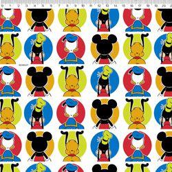 Tecido Mickey tricoline 100% algodão Ref: MK007C01
