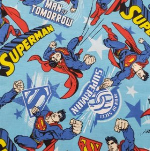 TECIDO TRICOLINE SUPER MAN TRICOLINE 100% ALGODÃO 0,50 POR 1,50 LARGURA