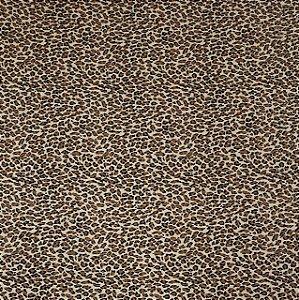 TECIDO ANIMAL PRINT ONÇA 1 TRICOLINE 100% ALGODÃO 0,50 POR 1,50 LARGURA