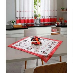TOALHA DE MESA ESTAMPADO MICKEY E MINNIE 78X78