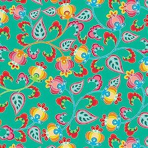 Tecido Floral Amanda Digital 100% algodão
