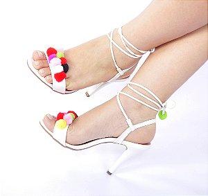 Sandália Pompom Luxury