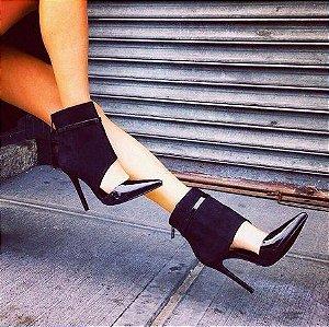 Scarpin Preto Ankle Boot