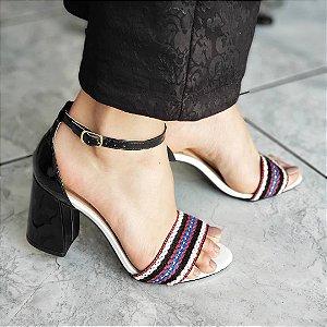 Sandália Salto Grosso Sino Luxo