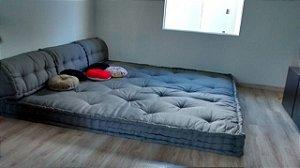 tatame de futon turco pra ático ou sala da tv