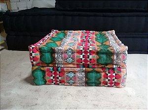 Estofados de futon turco oriental sob medida em sarja para pallet ou móveis de madeira