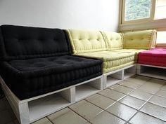 Futon turco almofada para pallet ou bancos de madeira 15cm altura sob encomenda