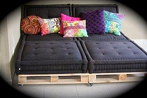 Futon turco sob medida almofada para pallet ou bancos de madeira  especial