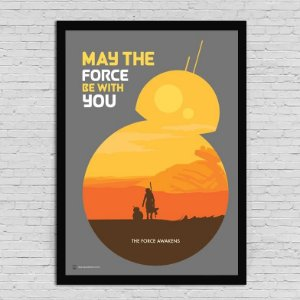 POSTER - BB8 FORCE - STAR WARS