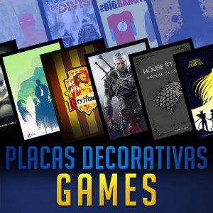 PLACAS DECORATIVAS - GAMES