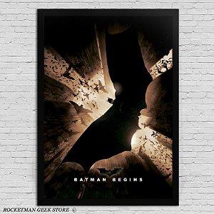 Poster com Moldura Batman Begins