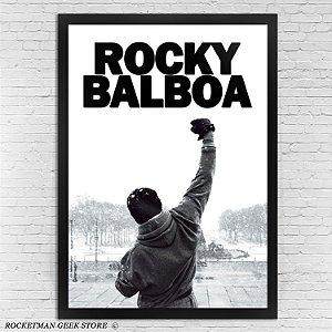 Poster Com Moldura Rocky Balboa