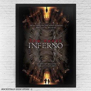 Poster Com Moldura Inferno Dan Brown