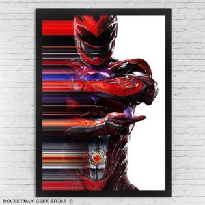 Poster Com Moldura Power Rangers Ranger Vermelho