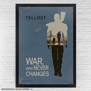 Poster com moldura - Fallout War