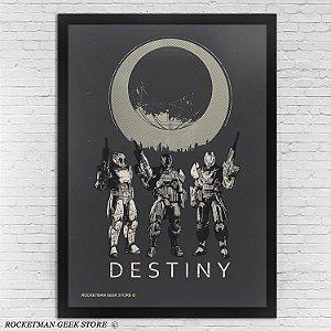 Poster com Moldura Destiny