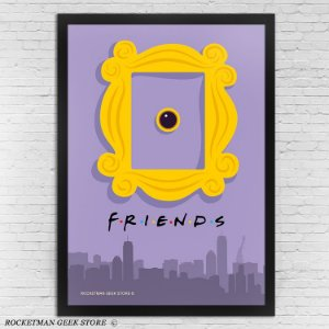 POSTER COM MOLDURA FRIENDS DOOR