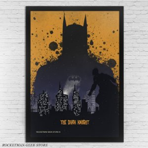 POSTER COM MOLDURA THE DARK KNIGHT BATMAN