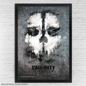 POSTER COM MOLDURA CALL OF DUTY GHOSTS