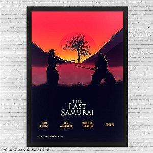 POSTER COM MOLDURA THE LAST SAMURAI O ÚLTIMO SAMURAI