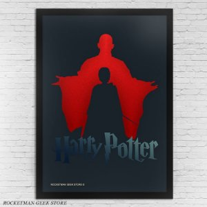 POSTER COM MOLDURA HARRY POTTER VOLDEMORT