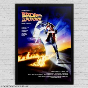 POSTER COM MOLDURA BACK TO THE FUTURE 1