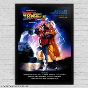 POSTER COM MOLDURA BACK TO THE FUTURE 2