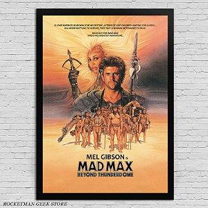 POSTER COM MOLDURA MAD MAX 3 BEYOND THUNDERDOME
