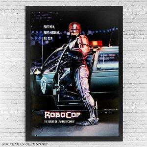 POSTER COM MOLDURA ROBOCOP 1987