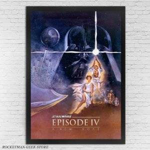 POSTER COM MOLDURA STAR WARS EPISÓDIO 4