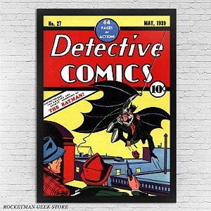 POSTER COM MOLDURA DETECTIVE COMICS N27 BATMAN