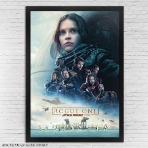 POSTER COM MOLDURA STAR WARS ROGUE ONE