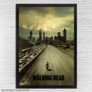 POSTER COM MOLDURA THE WALKING DEAD AMC