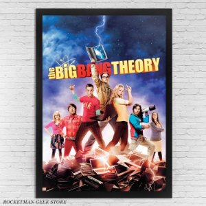 POSTER COM MOLDURA THE BIG BANG THEORY