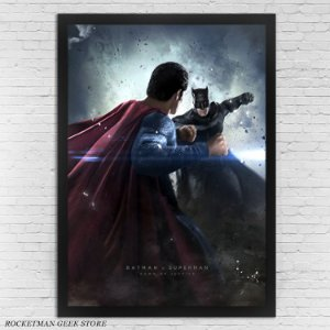 POSTER COM MOLDURA BATMAN VS SUPERMAN