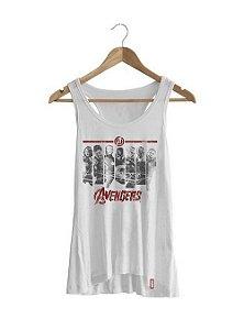 Camiseta Feminina Vingadores Era de Ultron - Faixas