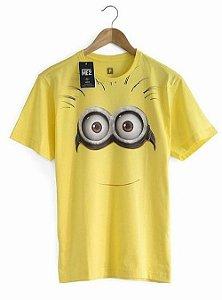 Camiseta Masculina Minion Face Meu Malvado Favorito