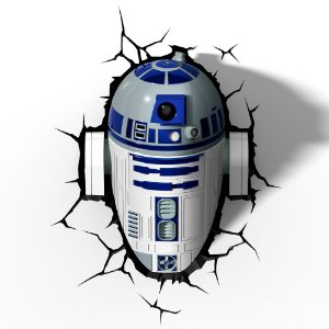 Luminária 3D Light FX Star Wars R2-D2