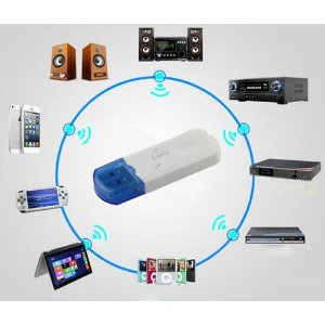 Adaptador Bluetooth para som usb Dongle com microfone