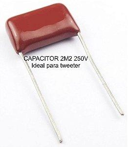 capacitor para TWEETER poliester 2m2 250v