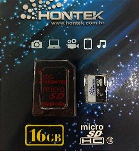 Cartão de Memoria 16gb Full HD Classe 10 Hontek