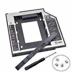Adaptador Case Caddy para Segundo HD ou SSD para Notebook 9,5MM Knup KP-HD010