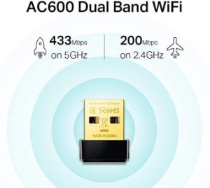 Adaptador Wireless USB Wifi Dual Band 600mbps 2.4ghz + 5ghz Nano AC600 TP-Link