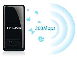 Adaptador Wireless USB Wifi 300mbps 2.4ghz Nano TL-WN823N TP-Link